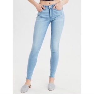 AEO NWT Hi Rise Jegging Jean NEXT Icy Blue Short